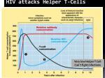 hiv attacks helper t cells