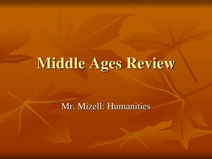 middle ages review n.
