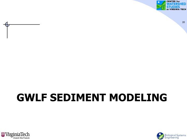 GWLF Sediment Modeling