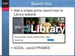 search box