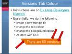 versions tab colour1