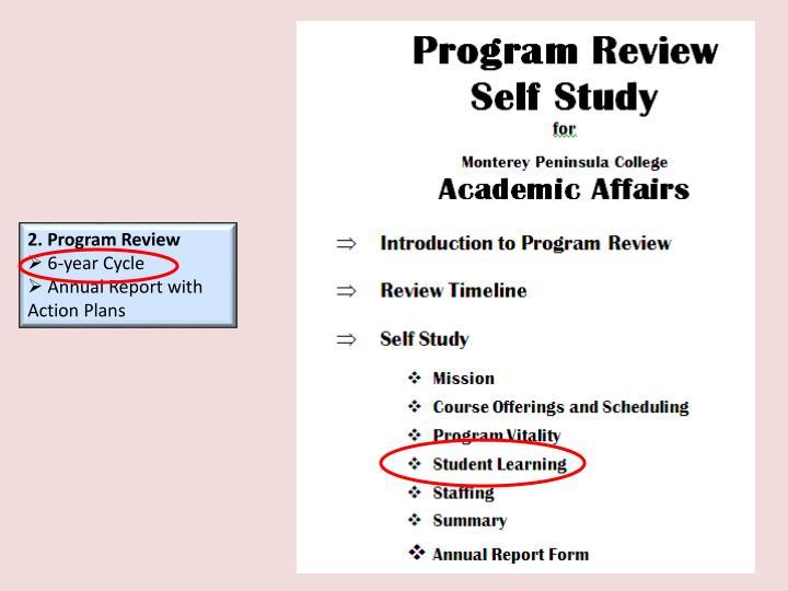 2. Program Review