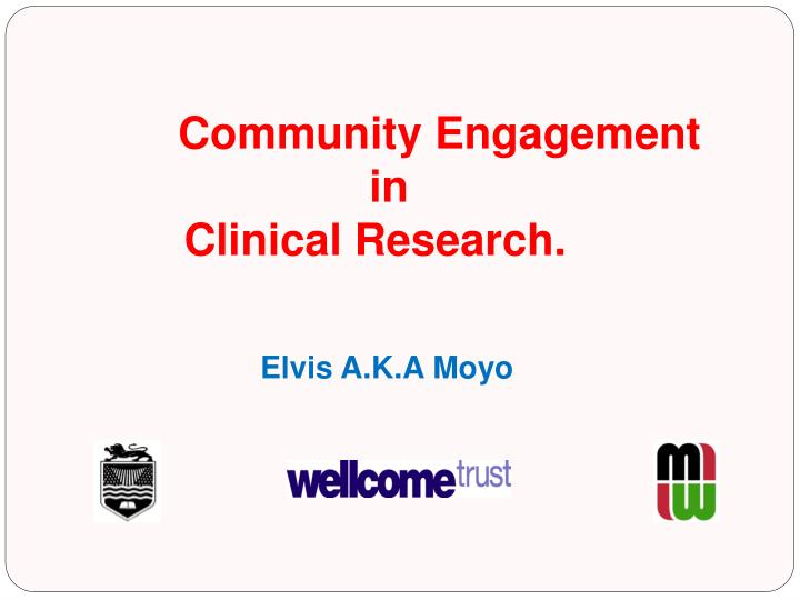 community engagement in clinical research n.