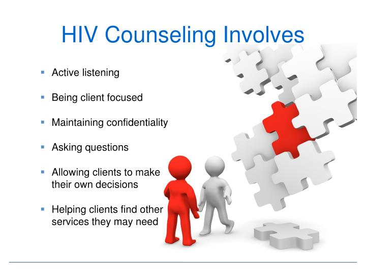 HIV Counseling Involves