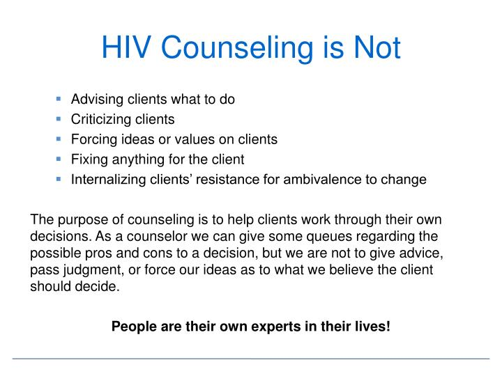 HIV Counseling is Not