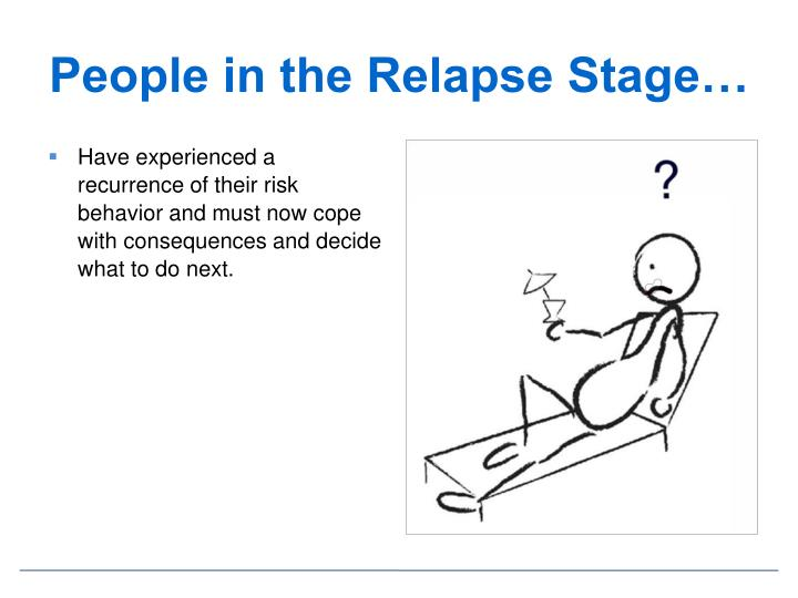 People in the Relapse Stage…