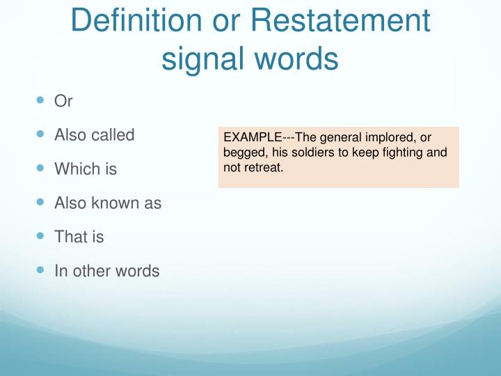 signal words definition