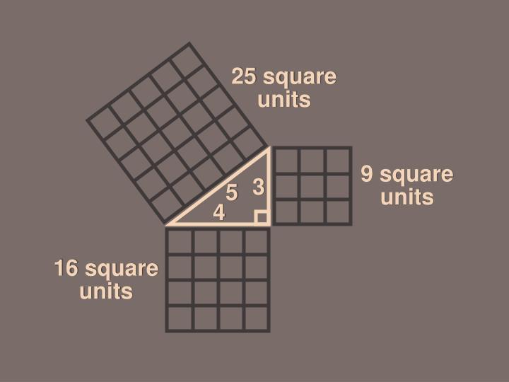 25 square units