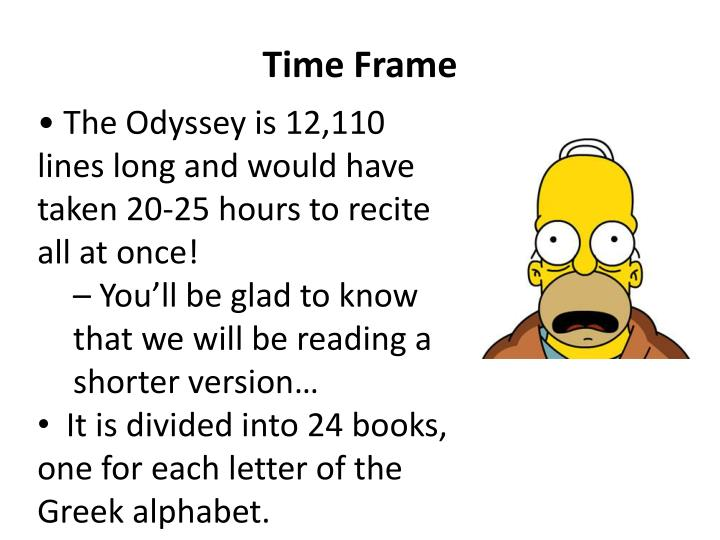 analysis of the odyssey by homer Homer's odyssey: a commentary by denton jaques snider on project gutenberg bbc audio file in our time bbc radio 4 discussion programme 45 minutes the meaning of tradition in homer's odyssey in english the odyssey comix a detailed retelling and explanation of homer's odyssey in comic-strip format by greek myth comix núria perpinyà (2008.