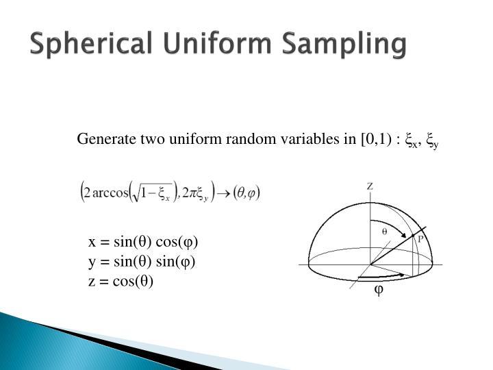 Spherical Uniform Sampling