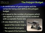 the polygon budget