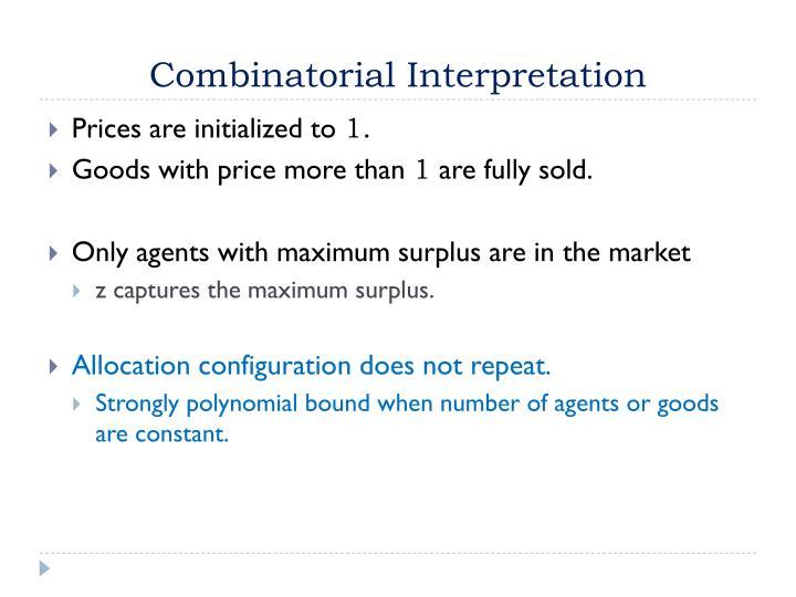Combinatorial Interpretation