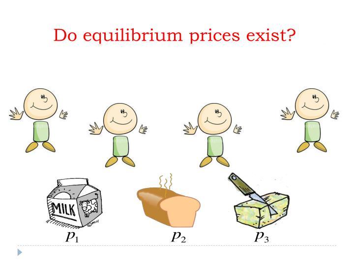 Do equilibrium prices exist?