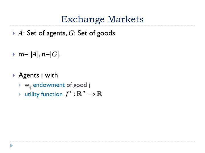 Exchange Markets