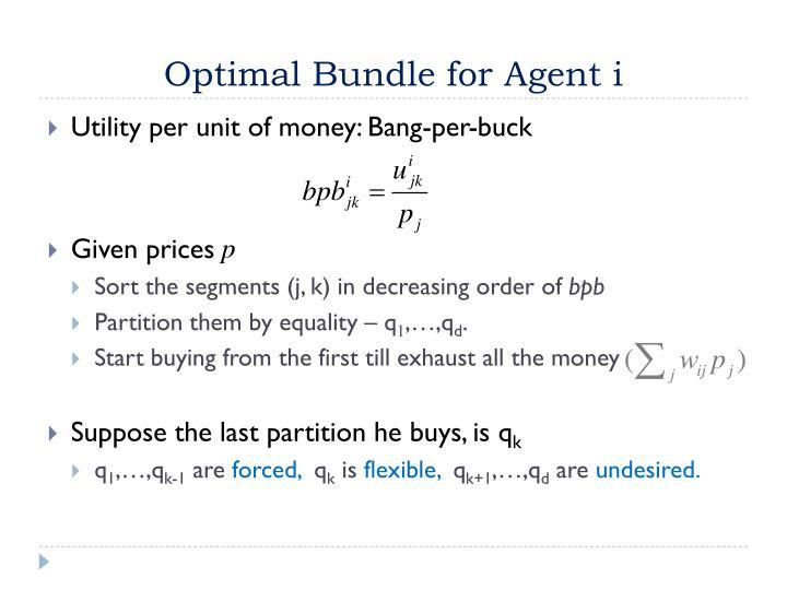 Optimal Bundle for Agent