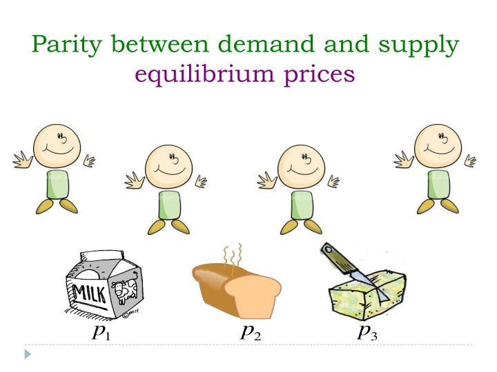 Parity between demand and supply