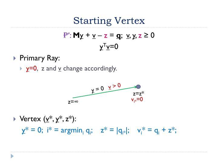 Starting Vertex
