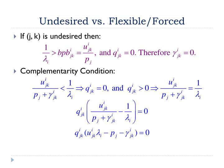 Undesired vs. Flexible/Forced