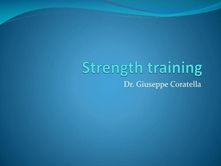 strength training n.
