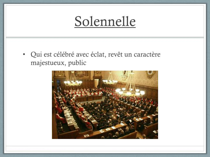 Solennelle