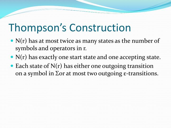 Thompson's Construction