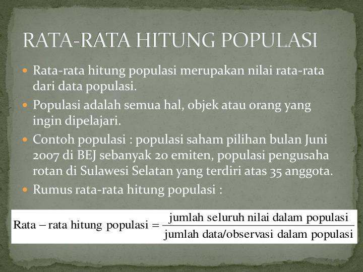 RATA-RATA HITUNG POPULASI