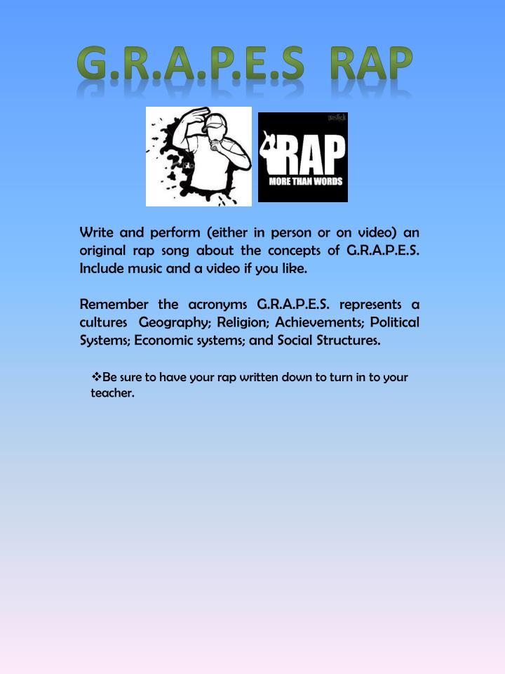 G.R.A.P.E.S  Rap