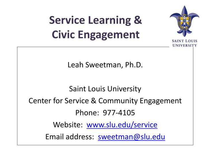 service learning civic engagement n.