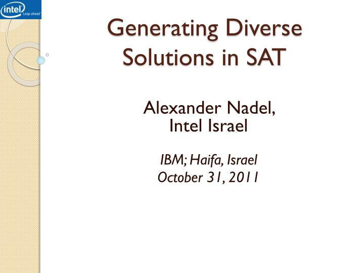 Generating diverse solutions in sat