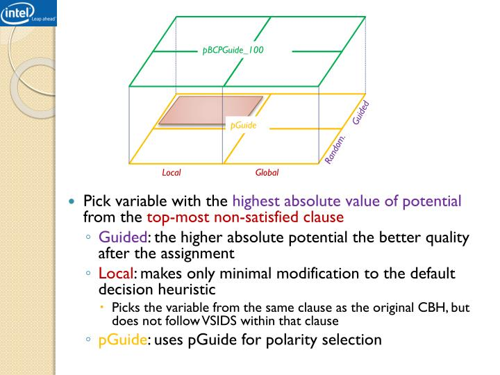 Pick variable with the