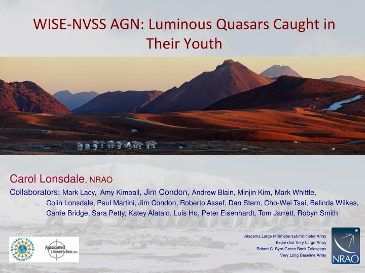wise nvss agn luminous quasars caught in their youth n.