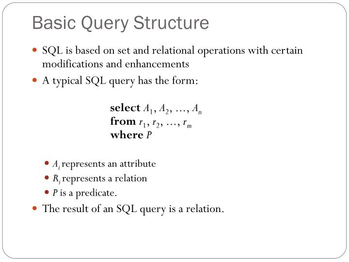 Basic Query Structure