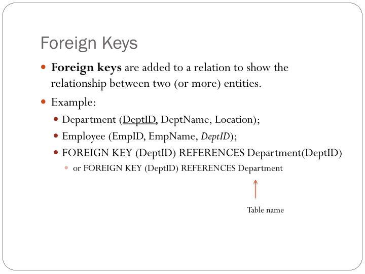 Foreign Keys