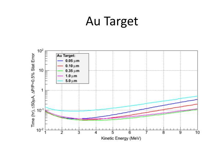 Au target