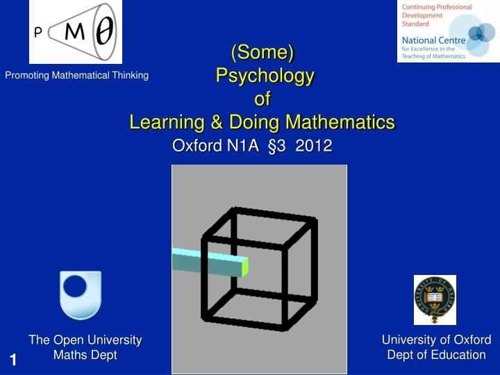 some psychology of learning doing mathematics n.