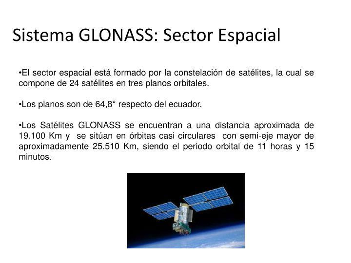 Sistema GLONASS: Sector Espacial