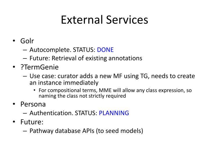 External Services