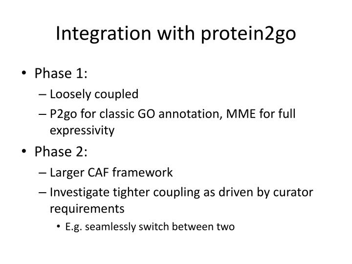 Integration with protein2go