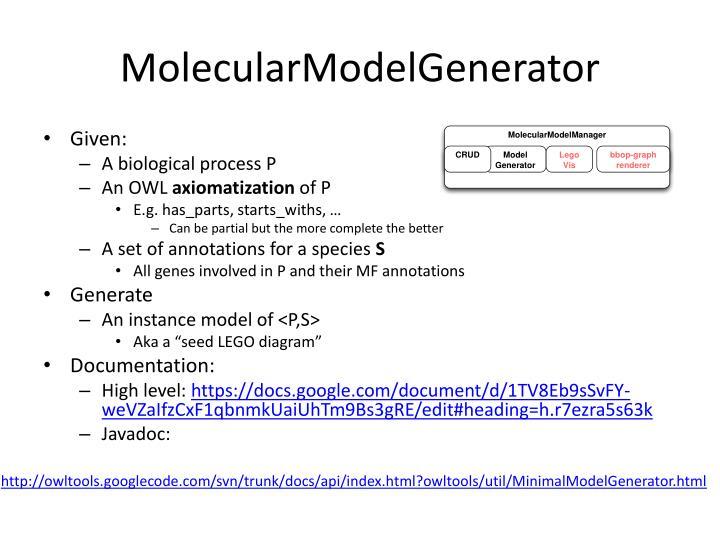 MolecularModelGenerator