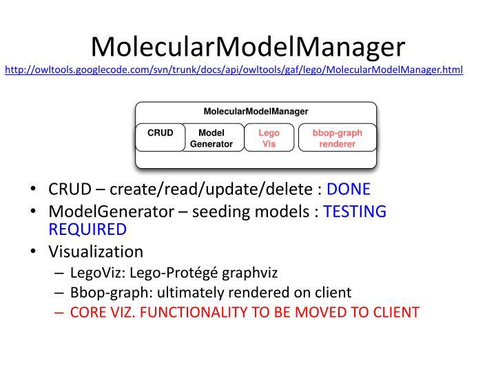 Molecularmodelmanager