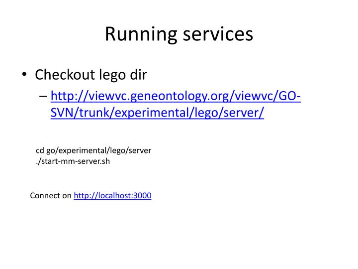 Running services