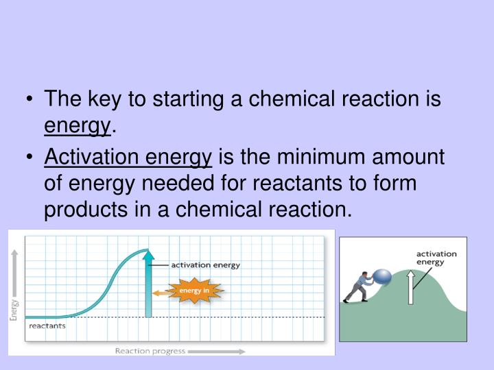 The key to starting a chemical reaction is