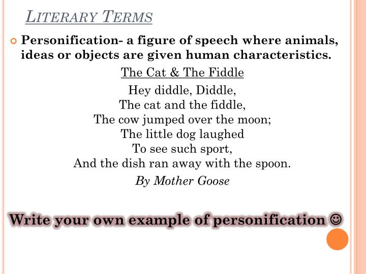 literary term personification