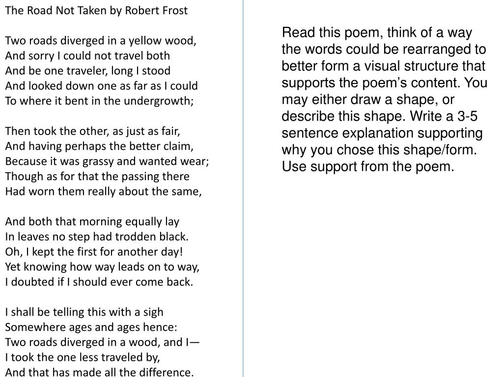 Essay On Healthy Eating Slide N Download Skip This Video Loading Slideshow In  Seconds The  Road Not Taken By Robert Frost  Best Business School Essays also Teaching Essay Writing High School Ppt  The Road Not Taken By Robert Frost Two Roads Diverged In A  English Literature Essay Structure