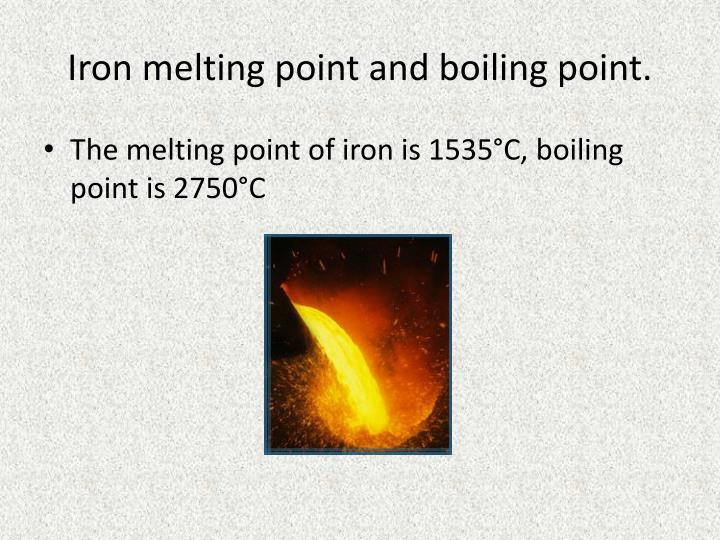 lab report boiling point and melting point Boiling points are influenced by the molecular weight and the polarity of the molecule melting points are often used to confirm the identity of solid organic compounds.