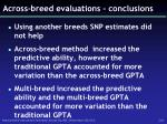 across breed evaluations conclusions