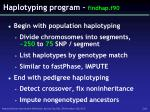 haplotyping program findhap f90