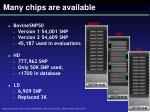 many chips are available