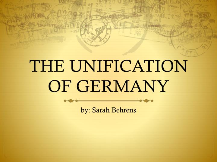 the unification of germany n.