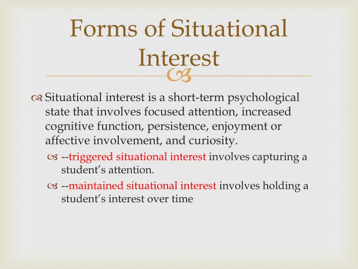 Forms of Situational Interest
